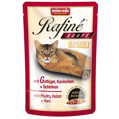 Animonda Rafiné Adult - Sachet - Volaille, lapin et jambon - 12 x 100 g