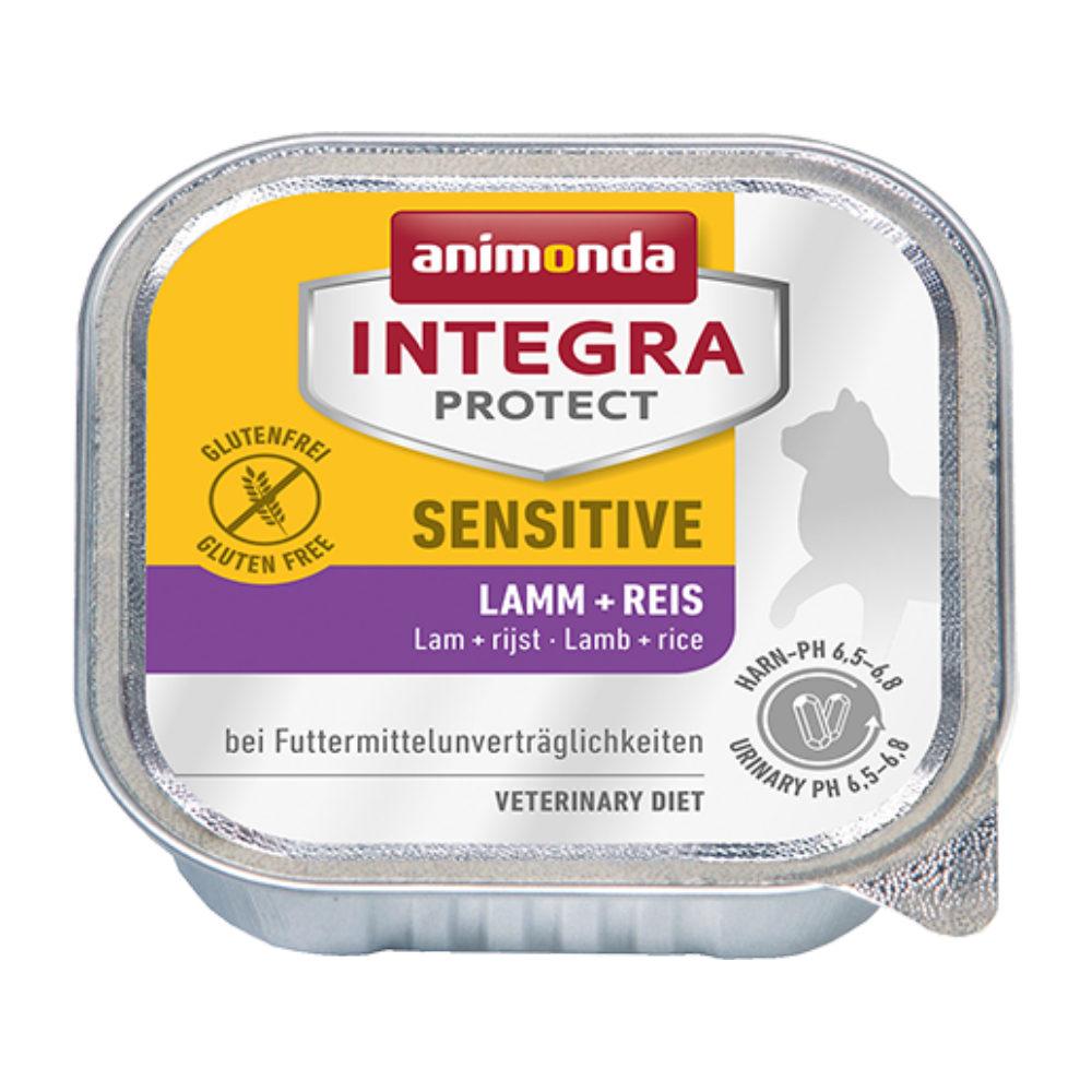 Animonda Integra Protect Sensitive Katzenfutter - Schälchen - Lamm & Reis - 16 x 100 g
