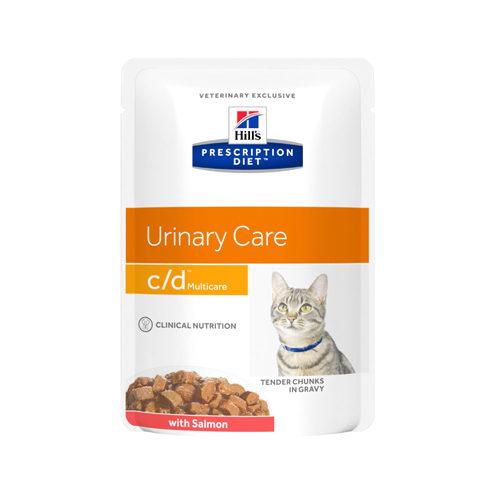 Hill's Prescription Diet c/d Multicare Katzenfutter - Frischebeutel - Lachs