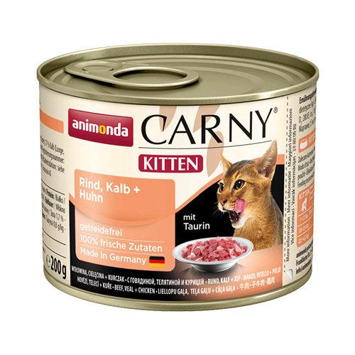 Animonda Carny Kittenfutter - Dosen - Rind / Kalb / Huhn - 6 x 200 g