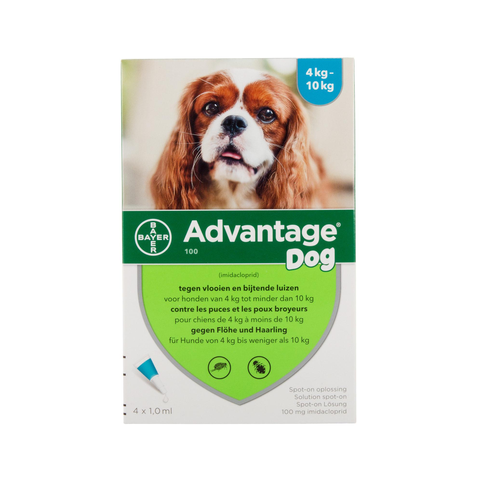 Advantage 100 Hund - 4 - 10 kg