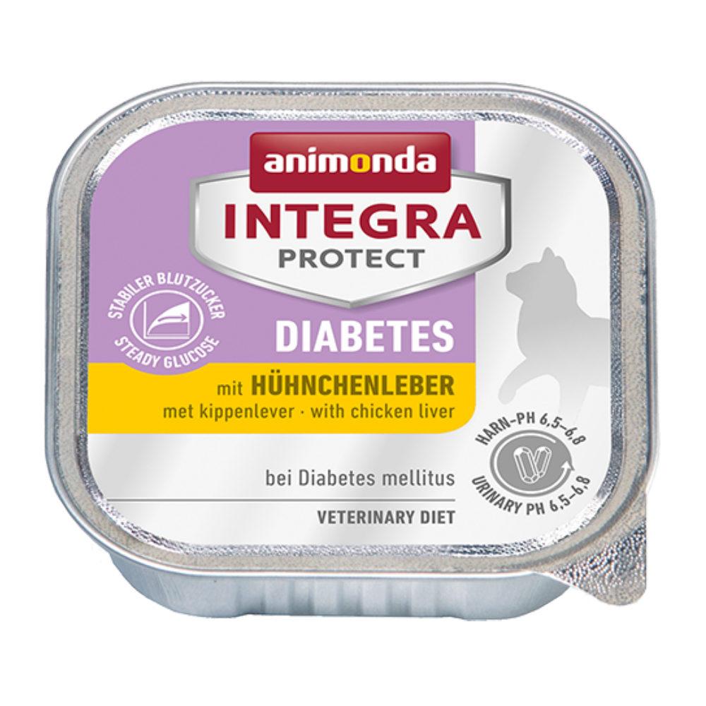 Animonda Integra Protect Diabetes - Barquette - Foie de poulet - 16 x 100 g