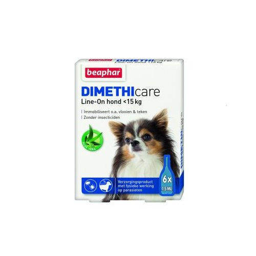 Beaphar DIMETHIcare Line-on Hund - bis zu 15 kg - 6 Pipetten