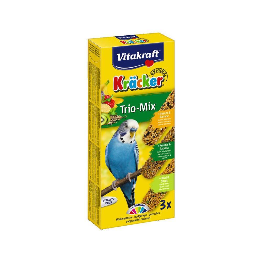 Vitakraft Kräcker Trio-Mix - Perruche - Banane, herbes et kiwi