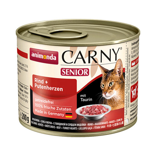 Animonda Carny Senior Katzenfutter - Dosen - Rind & Pute - 6 x 200 g