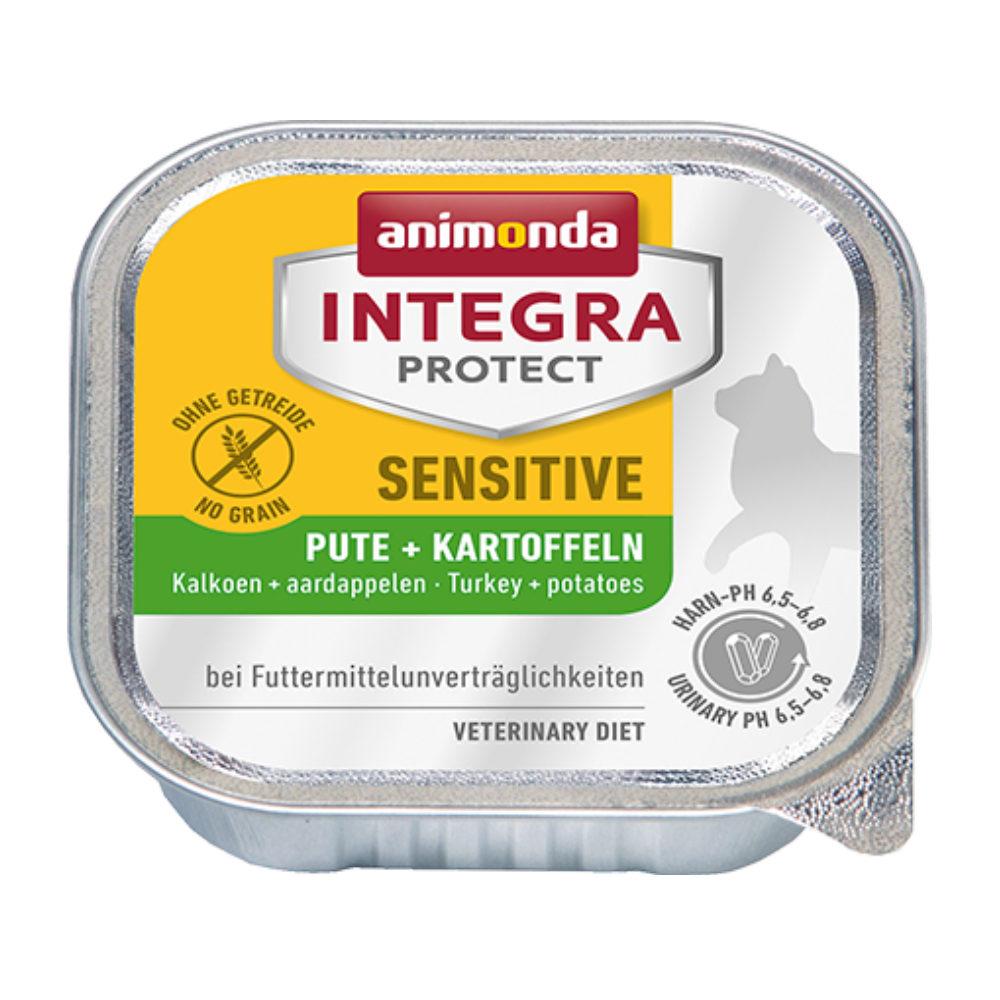 Animonda Integra Protect Sensitive Katzenfutter - Schälchen - Pute & Kartoffel - 16 x 100 g