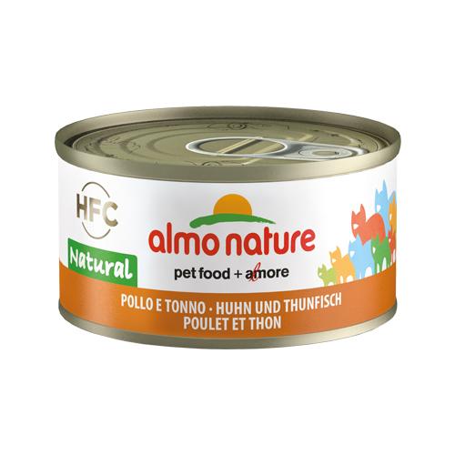 Almo Nature HFC 70 Natural - Poulet et thon - Boîte - 24 x 70 g