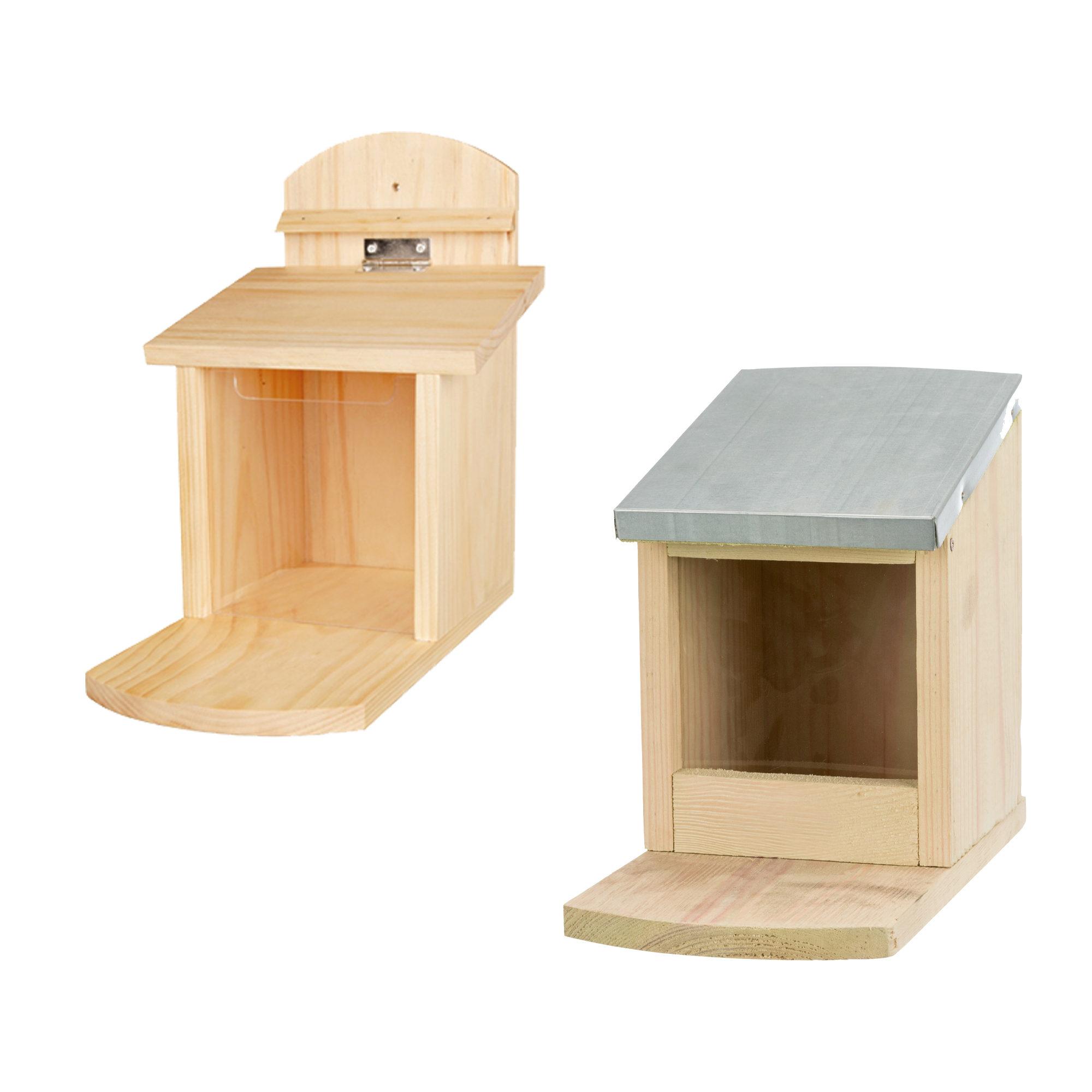 Trixie - Mangeoire pour écureuil avec toit en métal