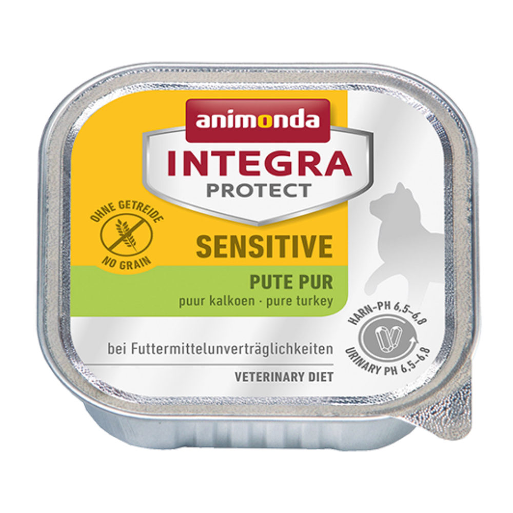 Animonda Integra Protect Sensitive Katzenfutter - Schälchen - Pute - 16 x 100 g