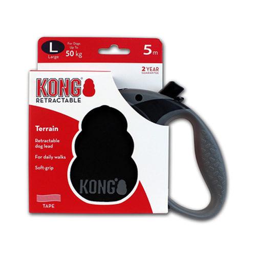 KONG Retractable Leash Terrain - Noir