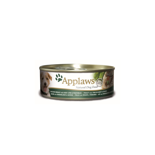 Applaws Hundefutter - Dosen - Chicken & Beef liver with Vegetables - 12 x 156 g