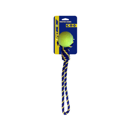 Petsport Knotted Cotton Rope Tug with Tuff Ball