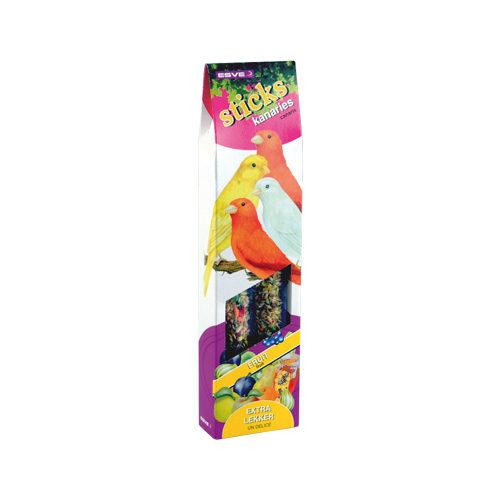 Esve - Bâtonnets pour oiseau pour canaries - Mélange de fruits