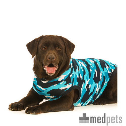 Suitical Recovery Suit Hund - Blau Camouflage