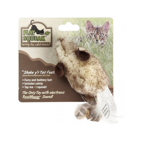 Play N Squeak Jouet pour chat - Shake your Tail Feather