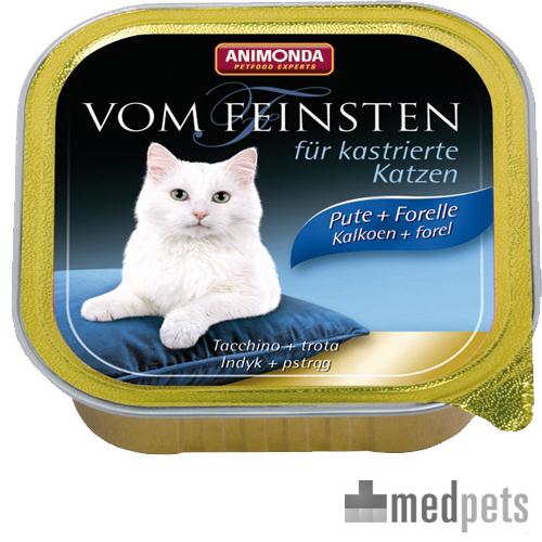 Animonda Vom Feinsten kastrierte Katzenfutter - Schälchen - Pute/Forelle