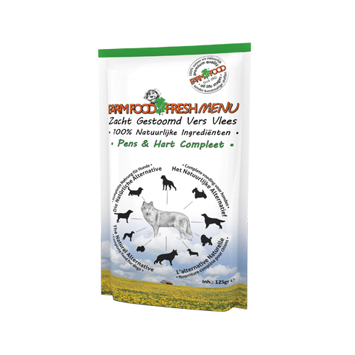 Farm Food Fresh Menu Komplett Hundefutter - Frischebeutel - Pansen & Herz
