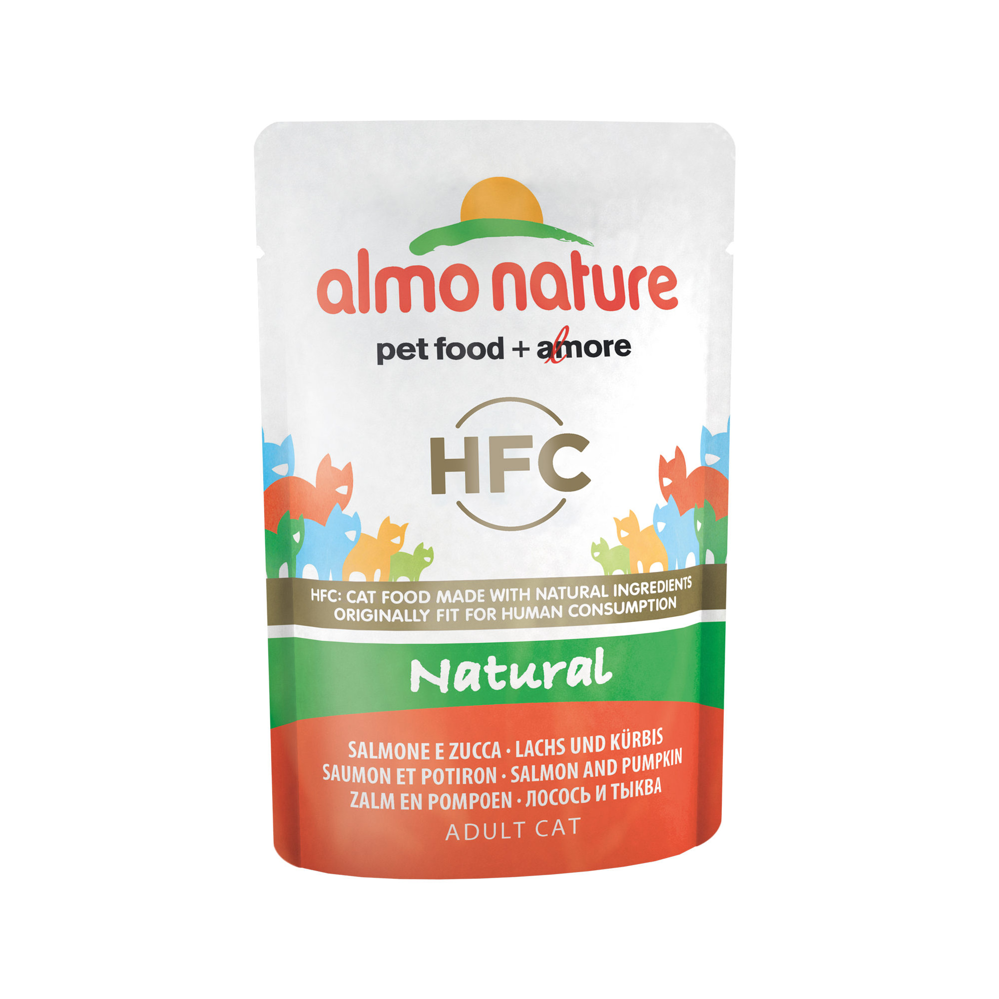 Almo Nature HFC Natural Katzenfutter - Dosen - Lachs & Kürbis - 25 x 55 g