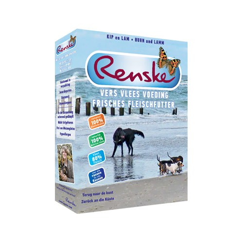Renske Frischfleisch-Futter Urlaubsmenü Hundefutter - Schälchen