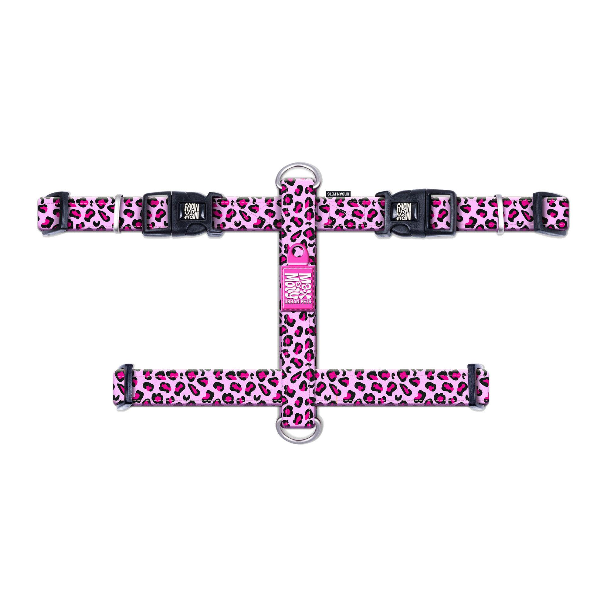 Max & Molly H-Hundegeschirr - Leopard Pink