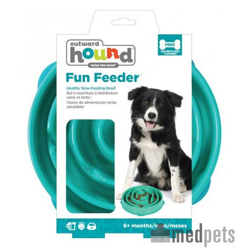 Outward Hound Fun Feeder - Teal