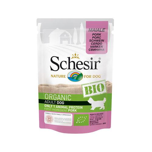 Schesir Bio Adult Hundefutter - Frischebeutel - Schweinefleisch