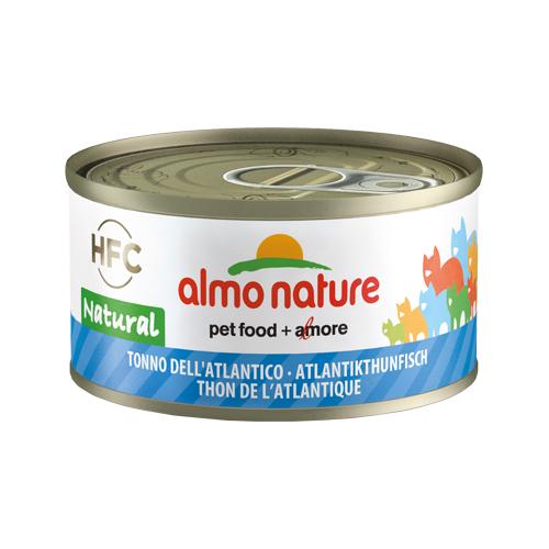 Almo Nature HFC 70 Natural Katzenfutter - Dosen - Atlantik Thunfisch - 24 x 70 g