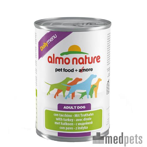 Almo Nature Daily Menu Paté Hundefutter - Dosen - Truthahn - 24 x 400 g
