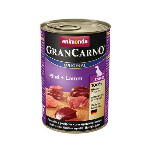 Animonda GranCarno Original Senior Hundefutter - Dosen - Rind & Lamm - 6 x 400 g