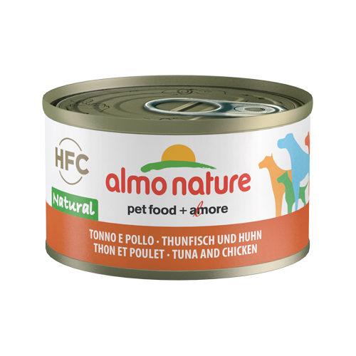 Almo Nature HFC 95 Natural Hundefutter - Dosen - Thunfisch & Huhn - 24 x 95 g