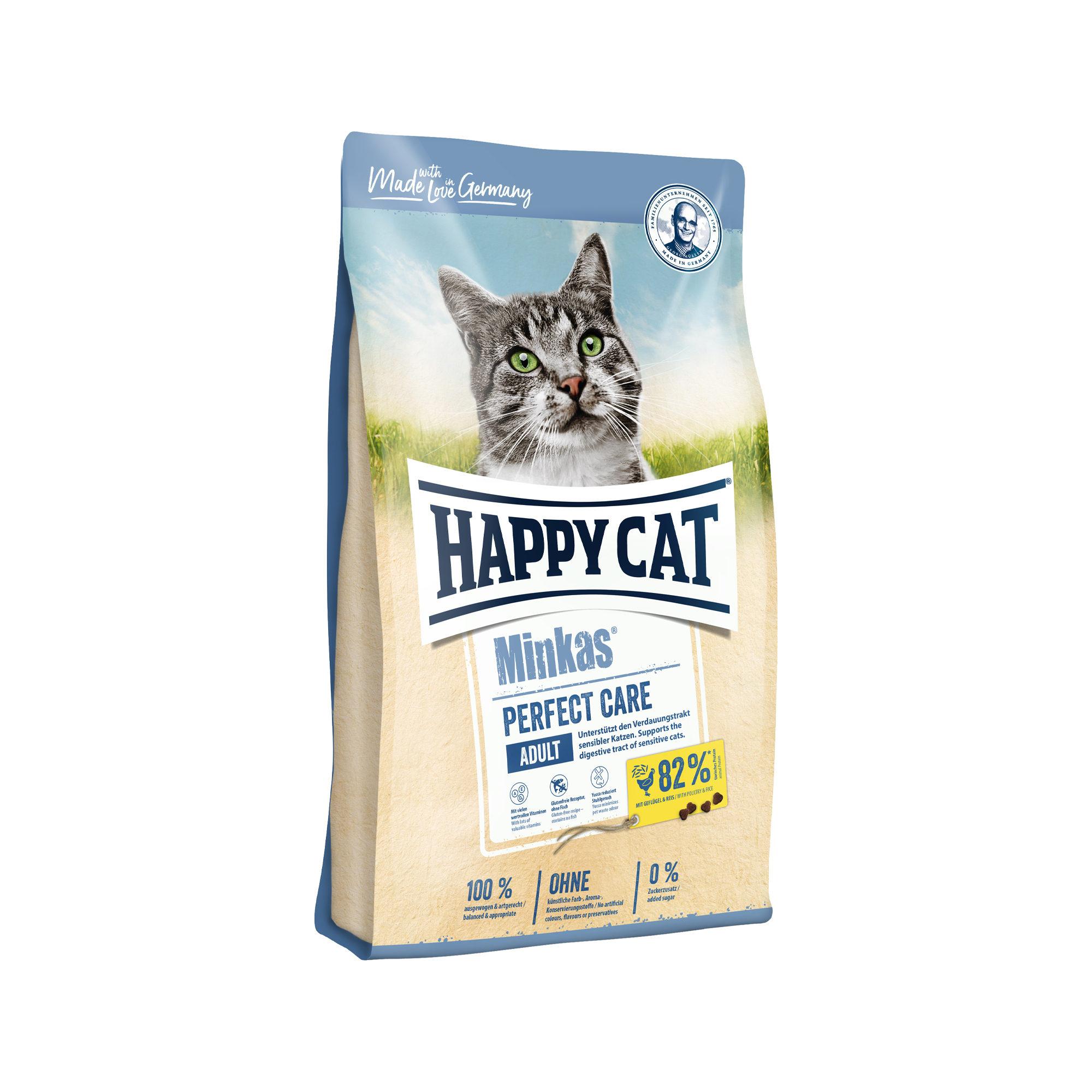 Happy Cat Minkas Adult Perfect Care Katzenfutter - Geflügel & Reis