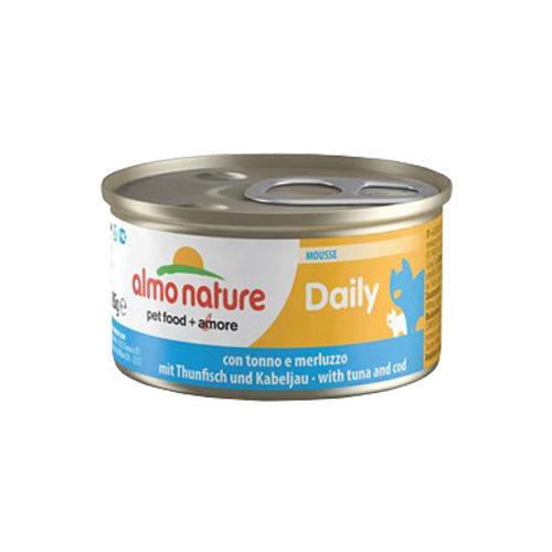 Almo Nature Daily Menu Mousse - Thon et morue- Boîte - 24 x 85 g