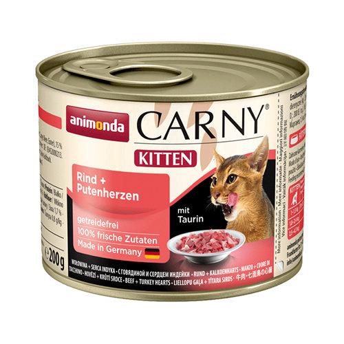 Animonda Carny Kittenfutter - Dosen - Rind & Pute - 6 x 200 g
