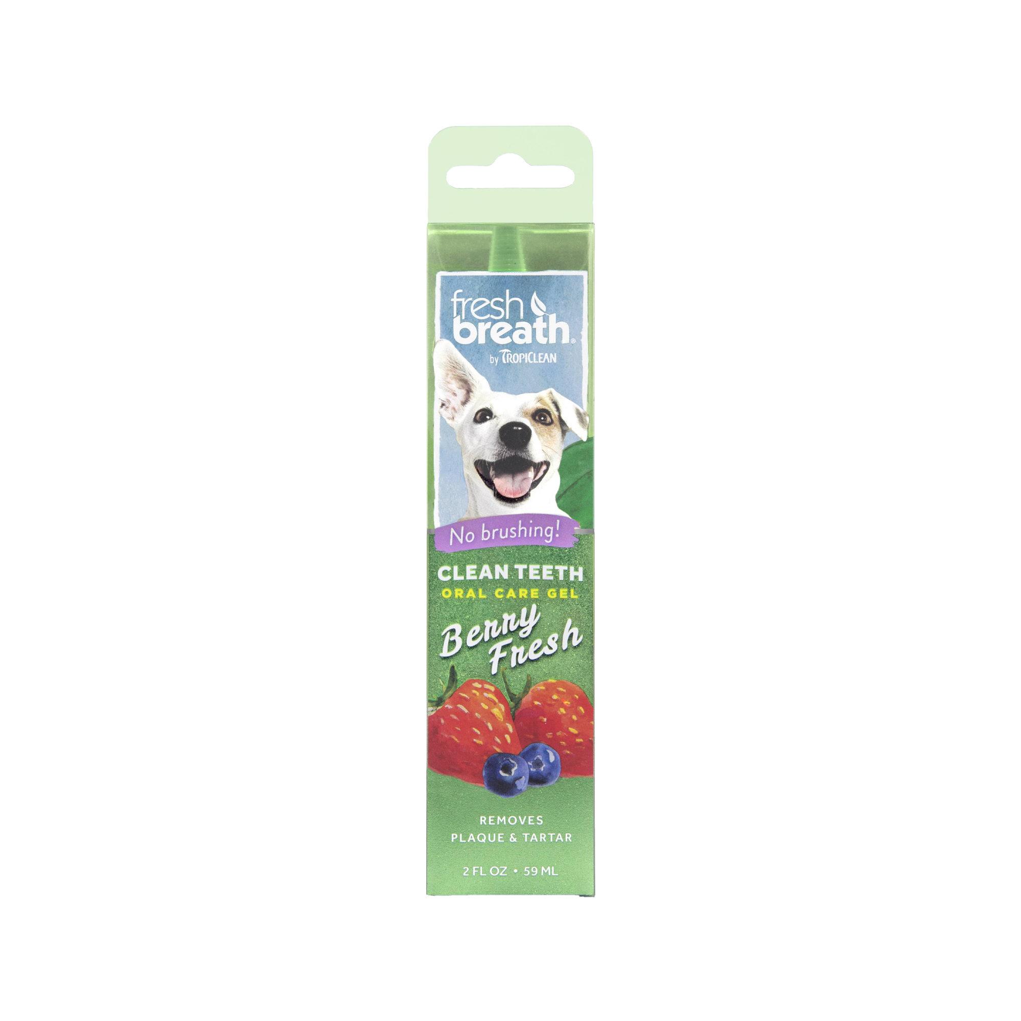 TropiClean Fresh Breath Clean Teeth OralCareGel Berry Hund