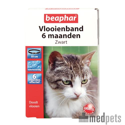 Beaphar Flohhalsband Katze 6 Monate - Schwarz