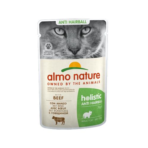 Almo Nature Anti Hairball Katzenfutter - Frischebeutel - Rind - 30 x 70 g