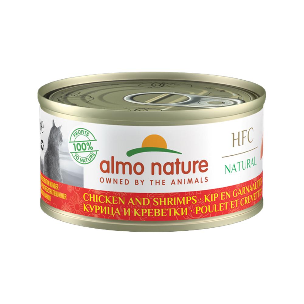 Almo Nature HFC 70 Natural - Poulet et crevette - Boîte - 24 x 70 g
