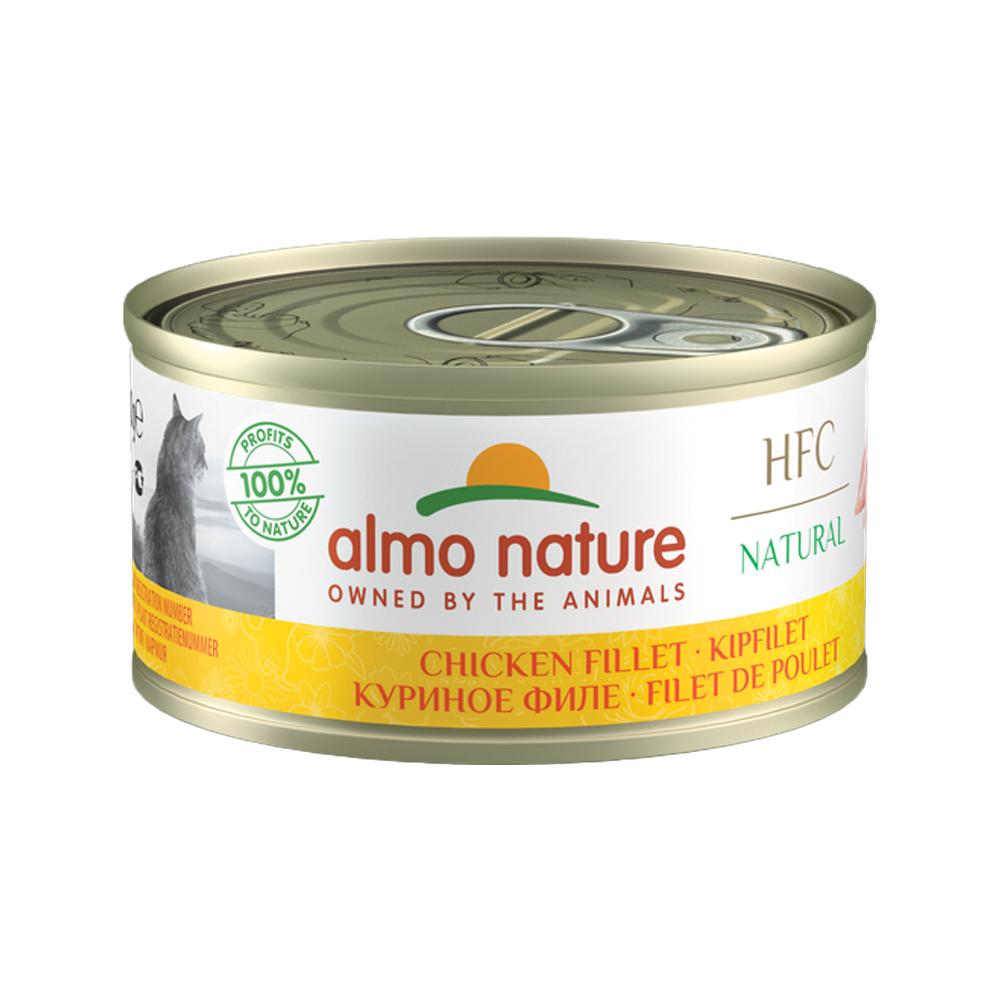 Almo Nature HFC 70 Natural Katzenfutter - Dosen - Hühnerfilet - 24 x 70 g