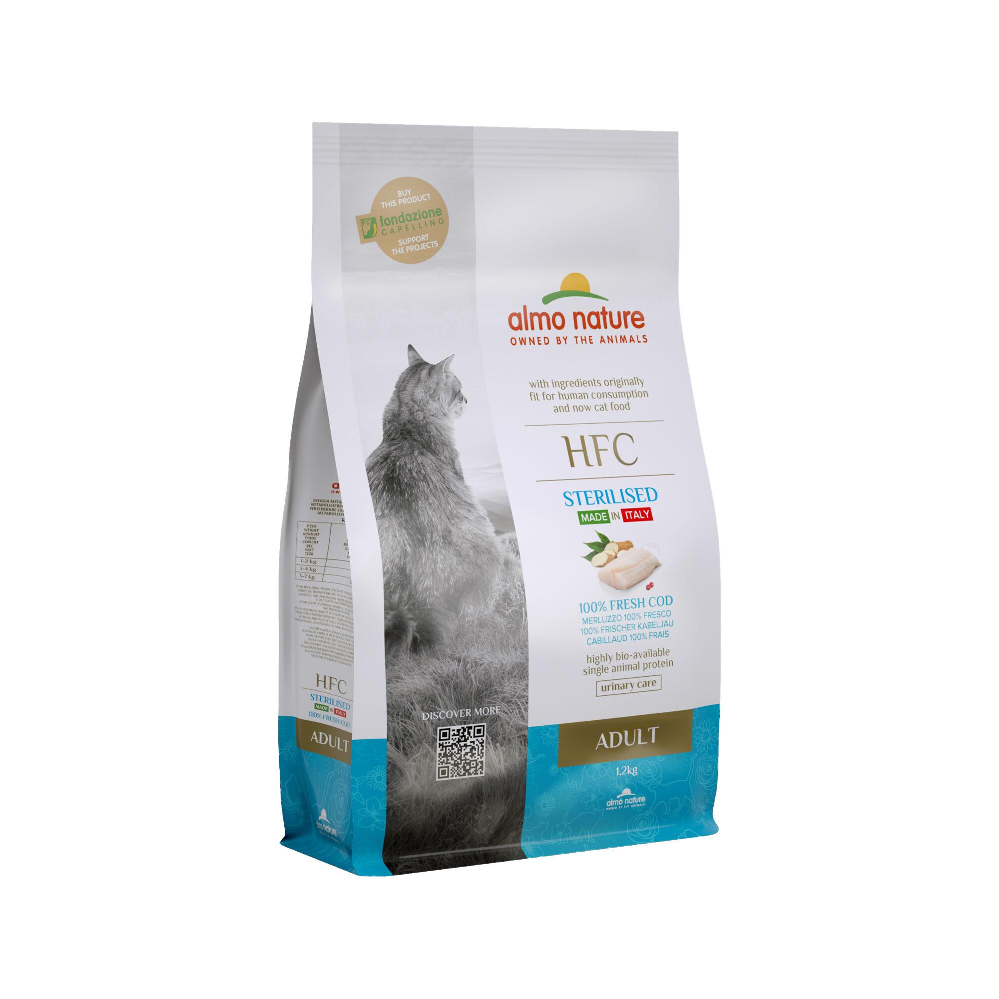 Almo Nature HFC Adult Sterilised Katzenfutter - Kabeljau - 1,2 kg