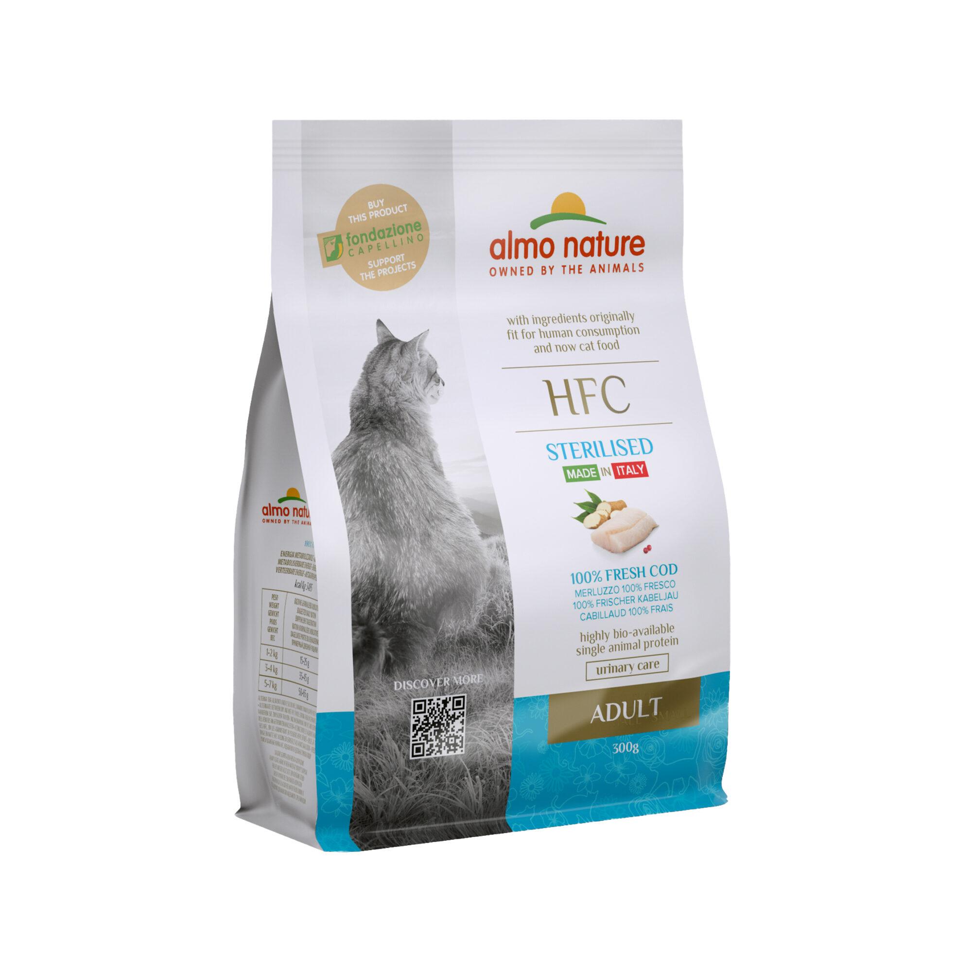 Almo Nature HFC Adult Sterilised Katzenfutter - Kabeljau - 300 g
