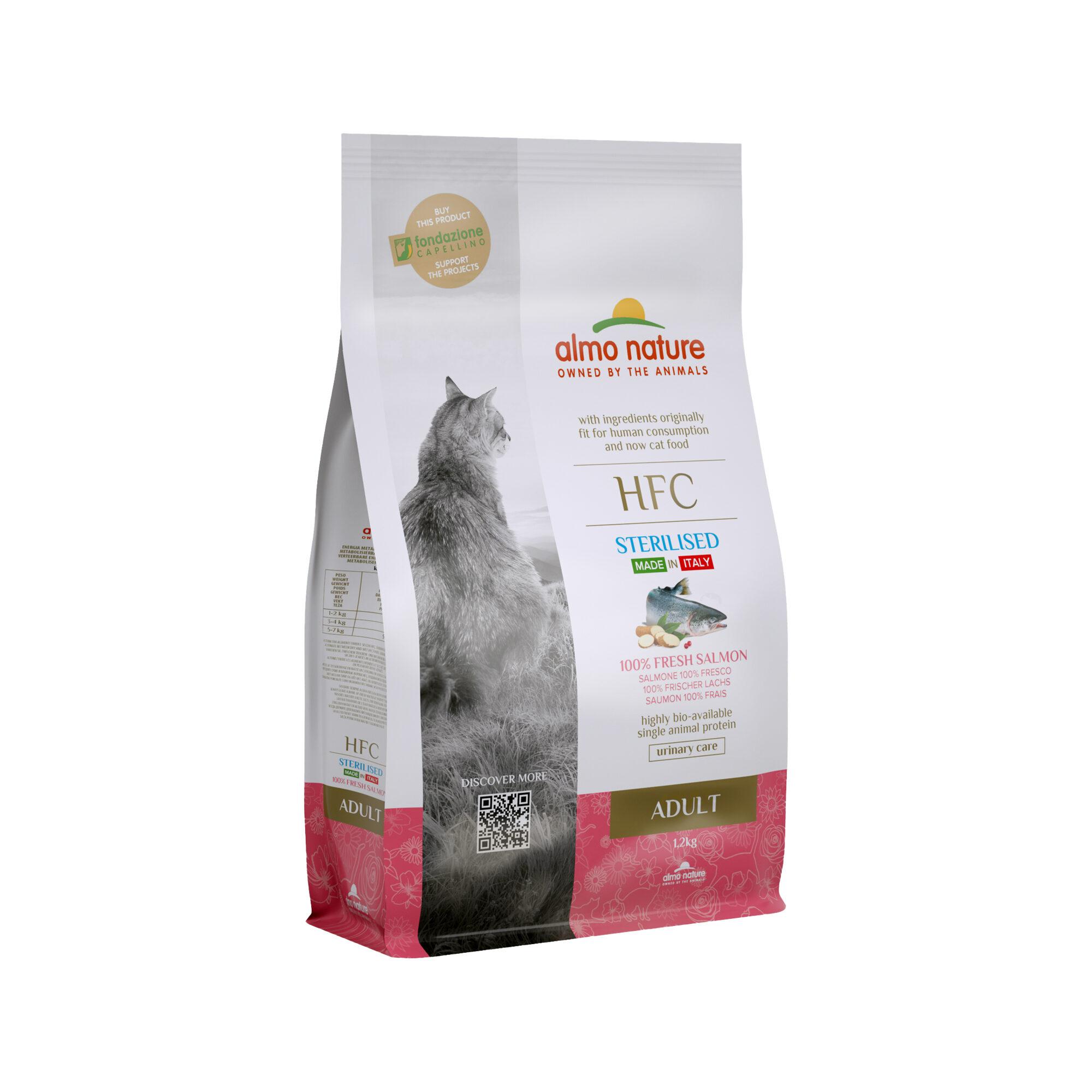 Almo Nature HFC Adult Sterilised Katzenfutter - Lachs - 1,2 kg