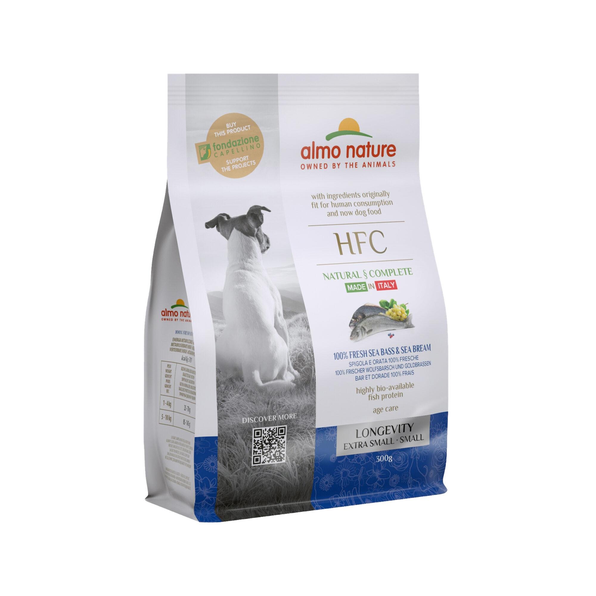 Almo Nature HFC Longevity (Extra) Small - Hunde - Wolfsbarsch und Goldbrassen