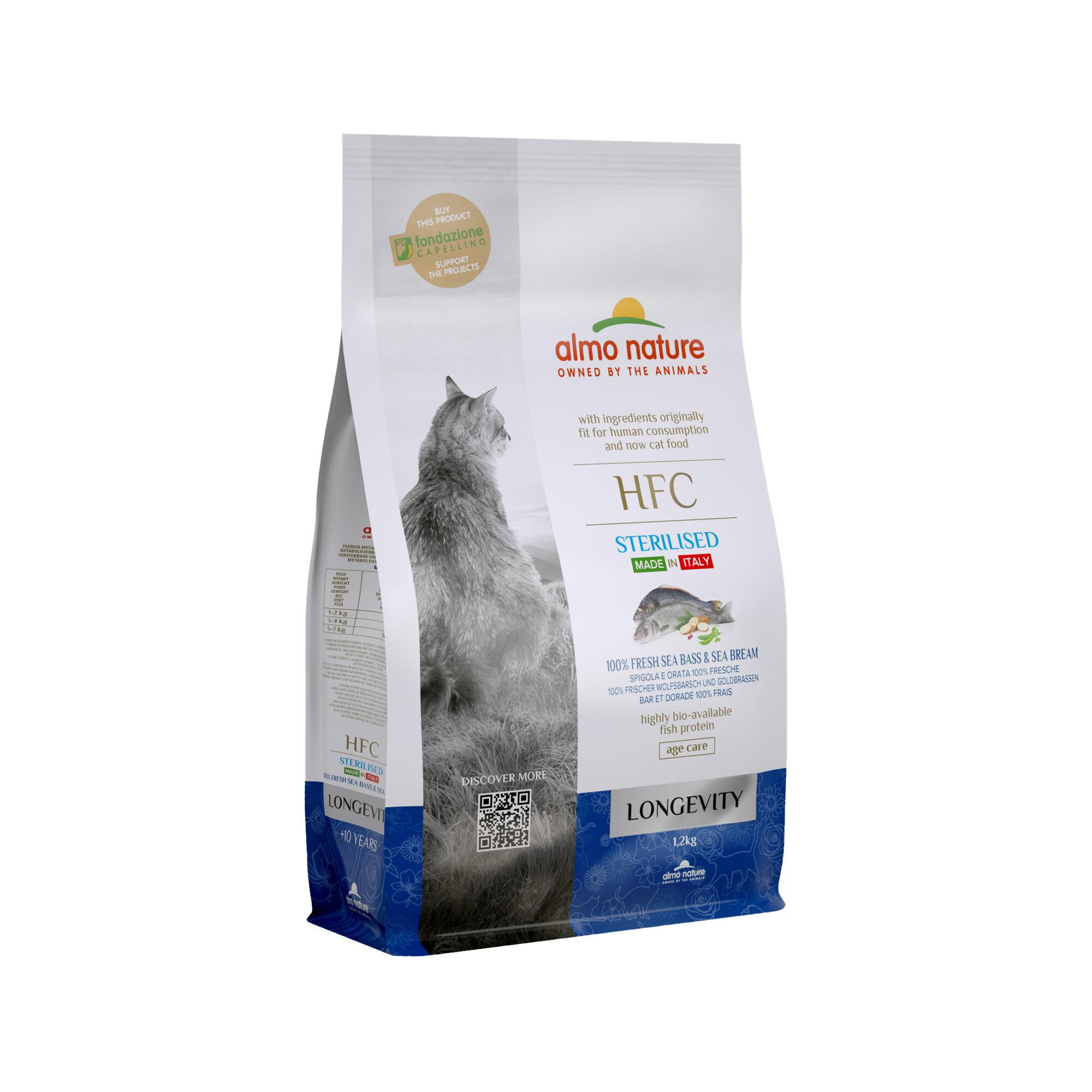 Almo Nature HFC Longevity Sterilised - Wolfsbarsch & Seebrasse - 1,2 kg