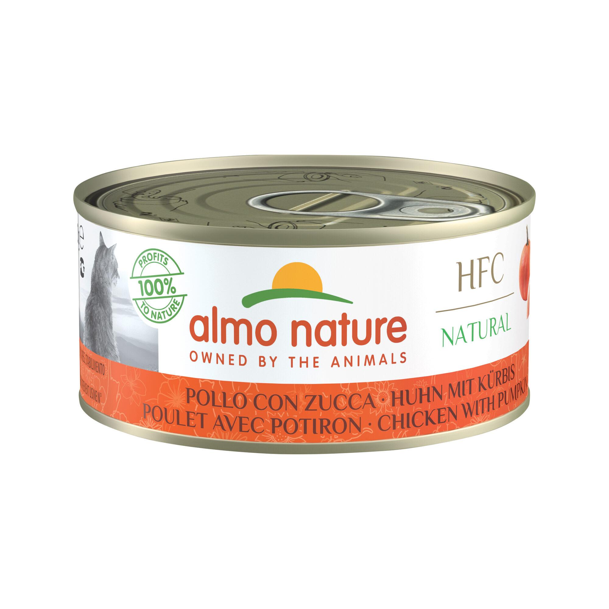 Almo Nature HFC Natural Alimentation pour chat - Poulet et citrouille - 24 x 150 g