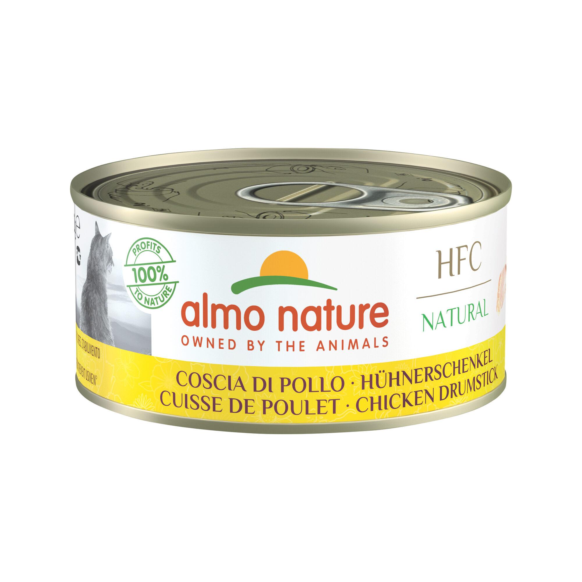 Almo Nature HFC 150 Natural Alimentation pour chat - Pilon de poulet - 24 x 150 g