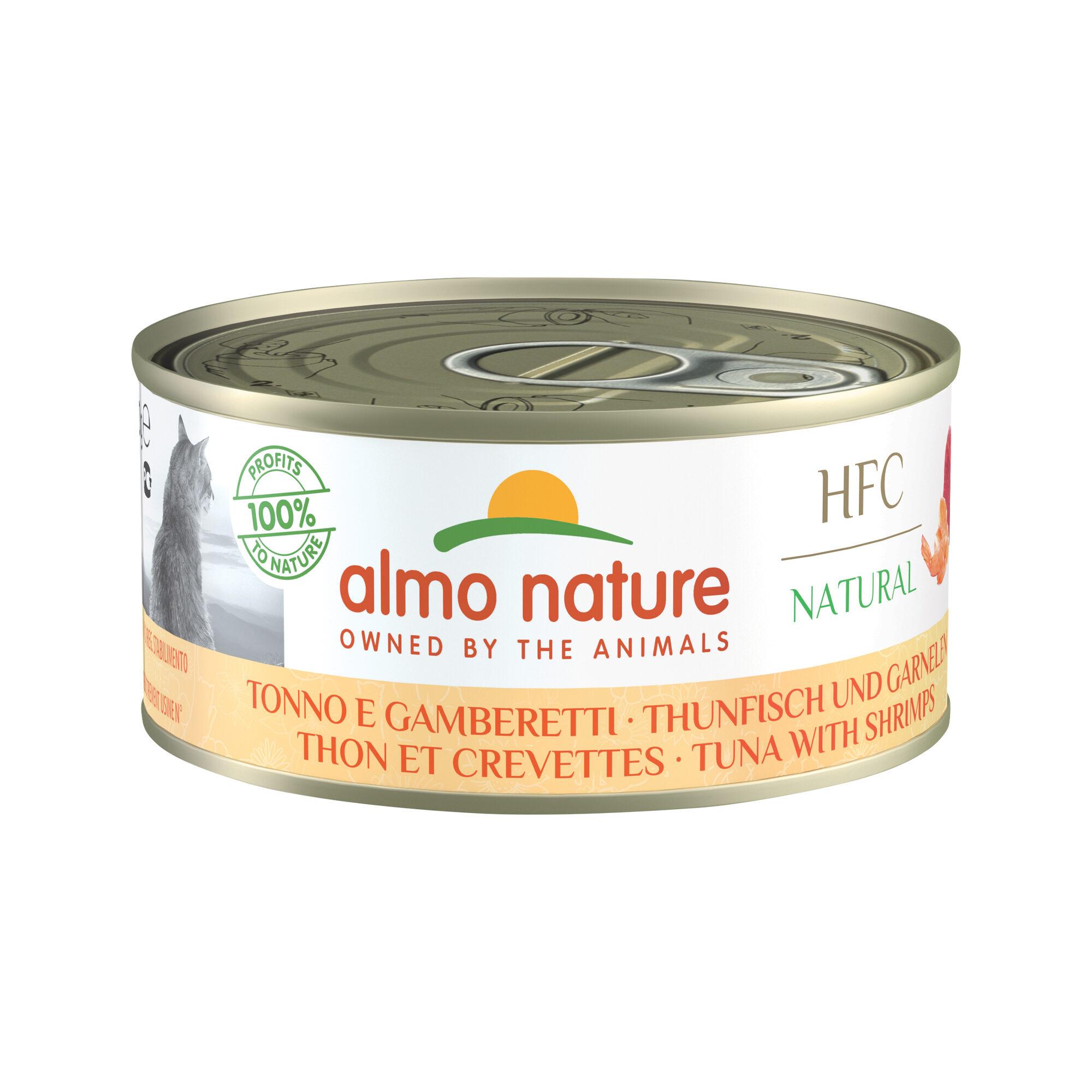 Almo Nature HFC 150 Natural Alimentation pour chat - Thon & crevette - 24 x 150 g