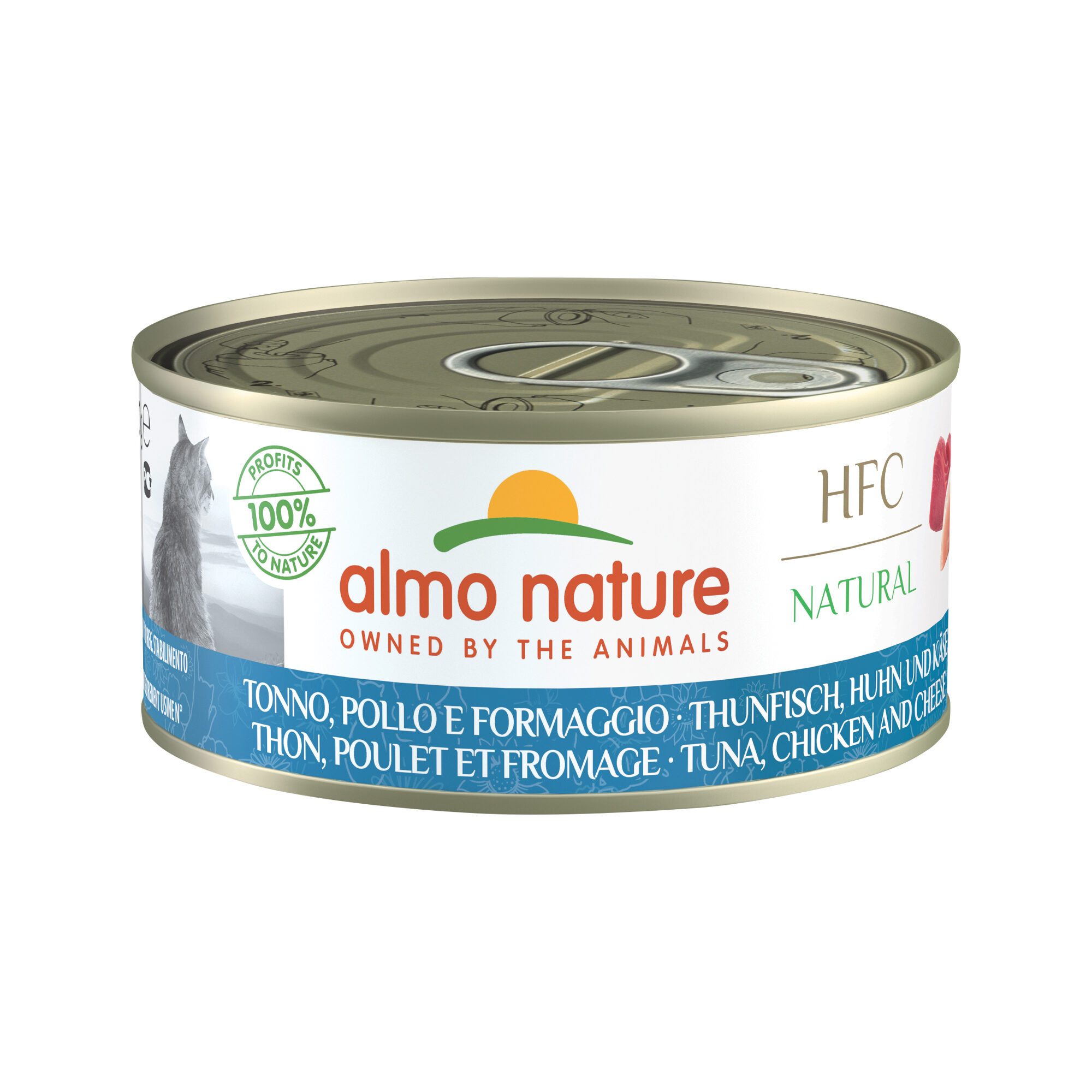 Almo Nature HFC 150 Natural Alimentation pour chat - Thon, poulet & fromage - 24 x 150 g