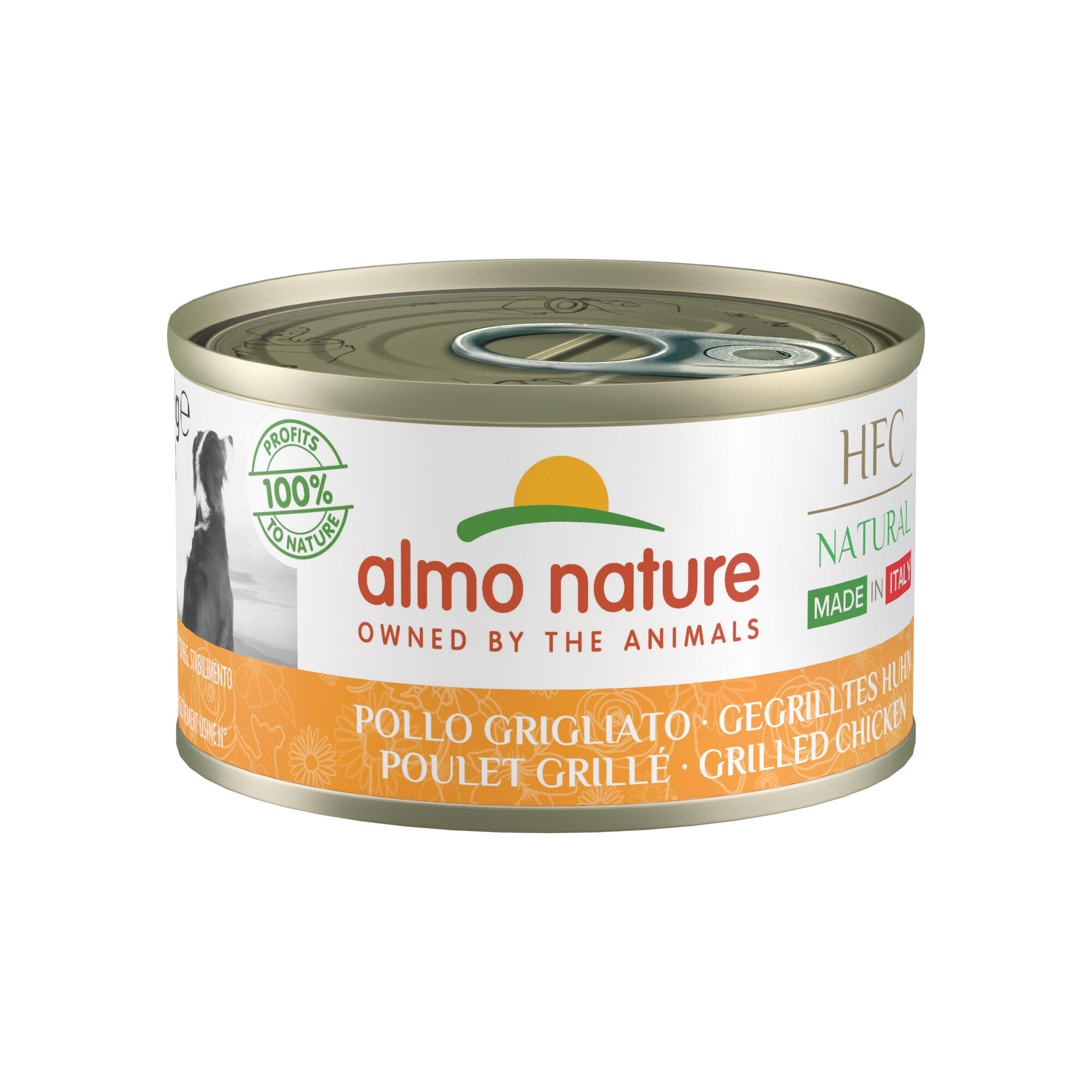 Almo Nature HFC Natural Made in Italy Alimentation pour chien - Poulet gril - 24 x 95 g