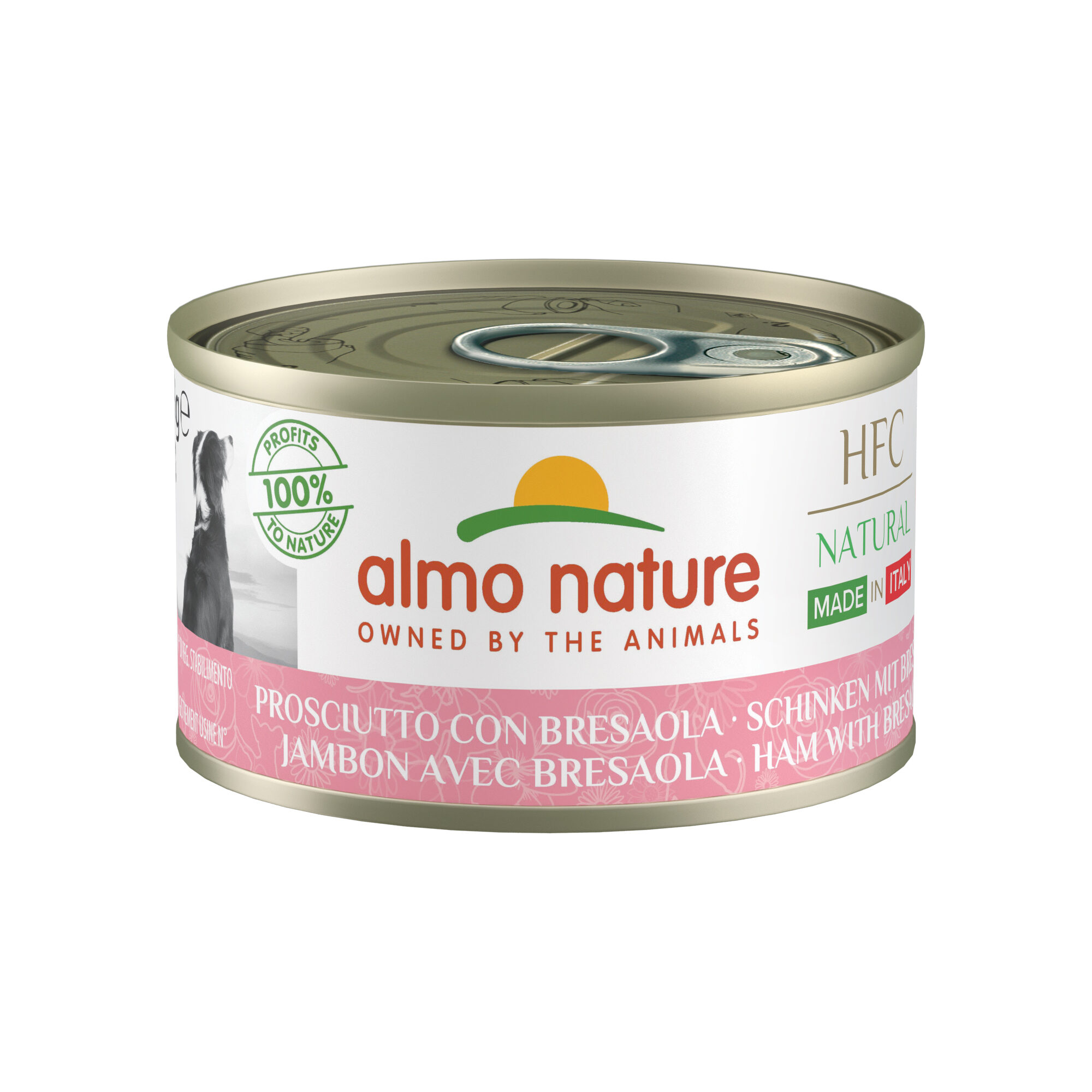 Almo Nature HFC Natural Made en Italy - Jambon et bresaola - 24 x 95