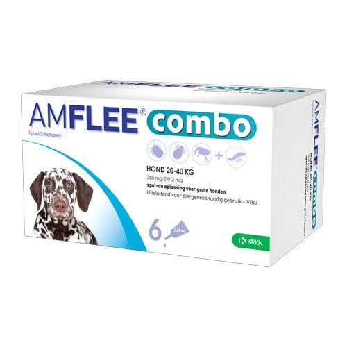 Amflee Combo Spot-on Hund - 268 mg (20-40 kg) - 6 Pipetten